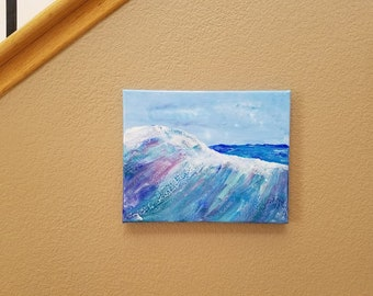 Catch A Wave - Acrylic on 8x10 back stapled canvas - FREE shipping to USA