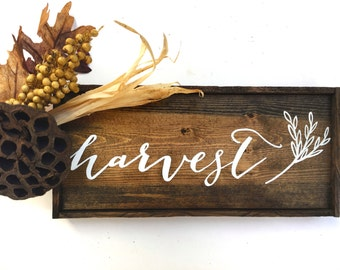 Harvest Fall Decor Handcrafted Wooden Sign // Rustic Fall Decor // Rustic Fall Sign // Farmhouse Fall Decor // Farmhouse Fall Sign