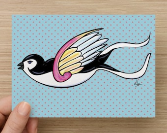 Postcard Little Swallow