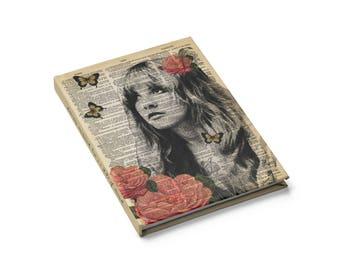 Stevie Nicks Notebook Blank ausgeschlossen Linie Hardcover-Buch, Wörterbuch Kunstdruck Rhiannon Gypsy Journal, Gast-Buch-Notebook-Tagebuch-Hochzeits-Geschenk