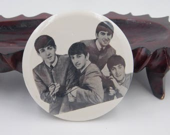 Vintage Photo Pin Pinback Of The Beatles dr55