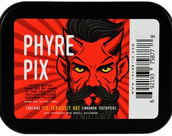 Phyre Pix 120 pack x 3 - Vacuum Infused Cinnamon Flavored Toothpicks  -  We dare you to try 'em!
