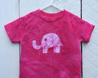 Pink Elephant Shirt, Kids Elephant Shirt, Girls Elephant Shirt, Toddler Elephant Shirt, Toddler Girls Shirt, Elephant Birthday Gift (2T)