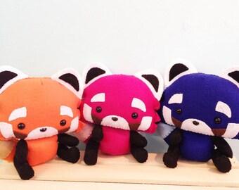 Red Panda handsewn felt plushie stuffed animal