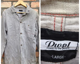 Sale Rare Brand Power To The People Jeans Jacket Nice Design Size L