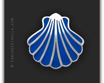 Shell Necklace silver blue Camino de Santiago