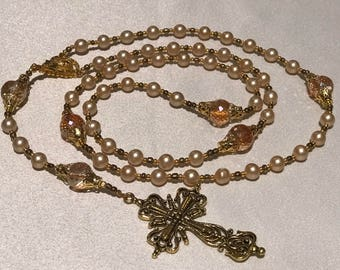 Beige Pearl Rosary