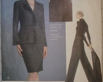 Vintage Vogue Pattern 2014 Vogue Attitudes Pattern Sizes 8-10-12 for Misses' Jacket, Belt, Skirt and Pants