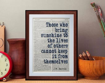 J M Barrie Peter Pan Quote   Dictionary Page Art Print Home Decor Present  Gift Home Decor