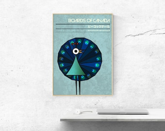 Peacock Tail - Boards of Canada Music Art Print
