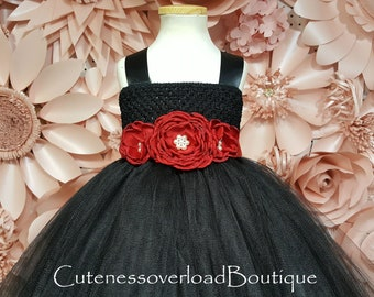 Black Wedding Tutu-Black Tutu Dress-Black Flower Girl Tutu Dress-Black Girl Tutu-Black Girl Tutu-Black Halloween Tutu-Black Wedding Tutu
