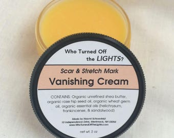 Vanishing Cream -- Organic Stretch Mark & Wrinkle Cream / Pregnancy Cream / Scar Remover / Belly Butter