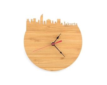 Wall Clock - Jakarta Skyline