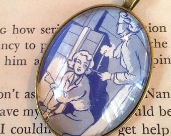 "Nancy Drew ""The Hidden Staircase"" pendant"