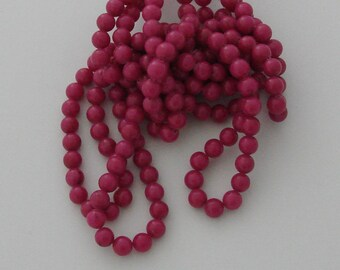 10 pearls 8mm Fuchsia jade