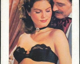 Vintage 1970s Rockabilly VLV Pinup Sweater Girl Mad Men - Black Strapless Bra BNIB
