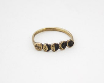 Moon Phase ring- Brass