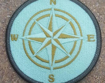 Compass patch embroidered custom