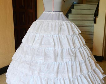 crinoline petticoat 6 hoops 6 ruffles wedding