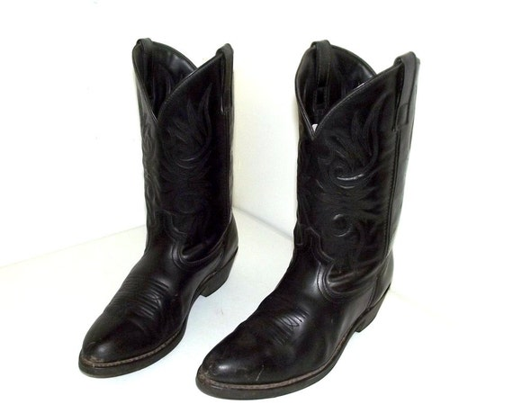Laredo cowboy 5 size boots womens Black 10 brand or 12 D black on leather USTgYWA7c