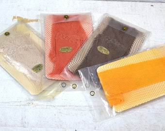 70s 80s Garter Fishnets Many Colors Avail NOS Fishnets Your Choice (1) Pair Thigh High Stockings Taupe Khaki Pumpkin Orange Merigold Yellow
