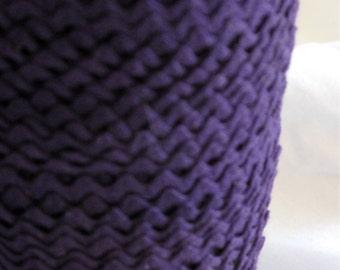 "Rickrack Sewing Trim, Vintage purple violet cotton baby rickrack, Tiny Ric Rac,   1/4"" wide - 5 yards"