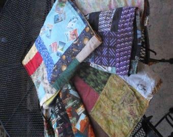 Custom colorful wrap skirt, knee length, with pockets