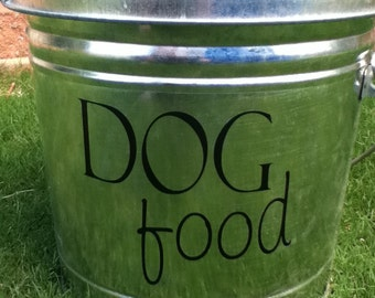Dog Food Decal for your pet food container with first class shipping