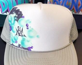 "Custom ""NYC"" Graffiti mesh trucker hat #2"