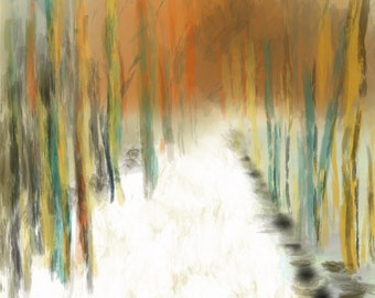 Abstract Forest And Snow