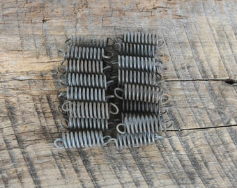 25 Upholstery Springs Rusted Coiled Wire Vintage Reuse Repurpose