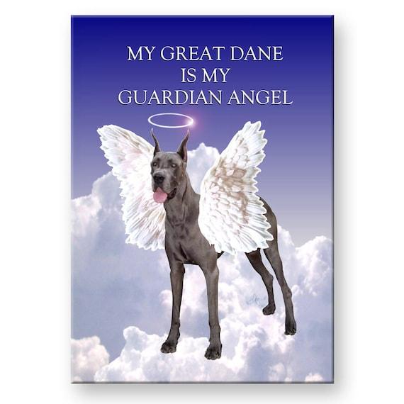 Great Dane Guardian Angel Fridge Magnet No 1