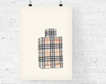 Burberry Brit Perfume Fashion Illustration Art Print
