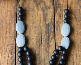 Chic Double Strand Silicone Necklace