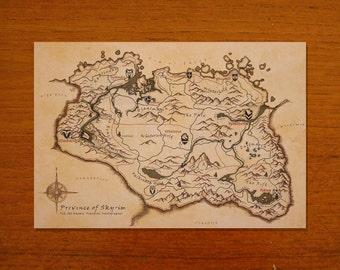 Skyrim Map Replica