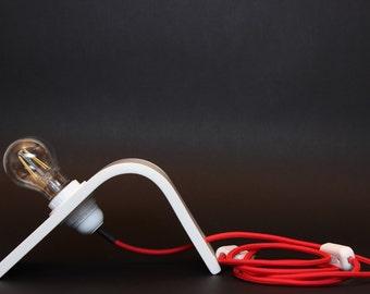 lampada/lampe/lamp/bedside lamp/ corian white curved