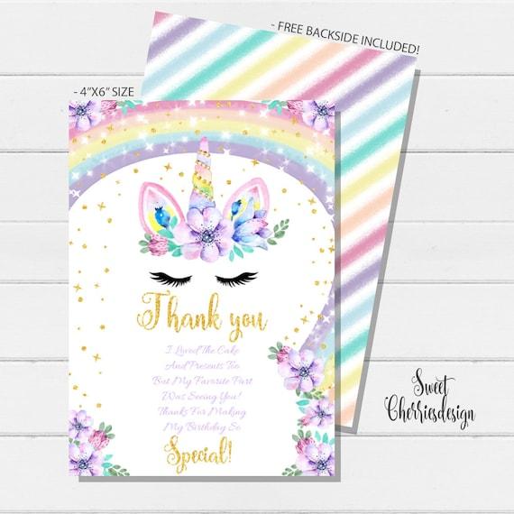 Printable Unicorn Invites From Etsy
