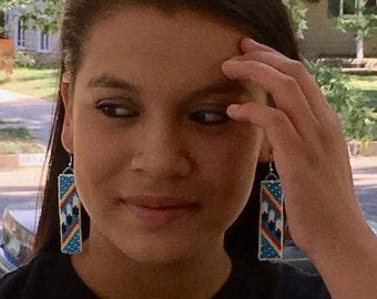 Indigenous American Style Loom Beaded Earrings