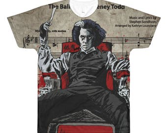 Johnny Depp Sweeney All-Over Printed T-Shirt