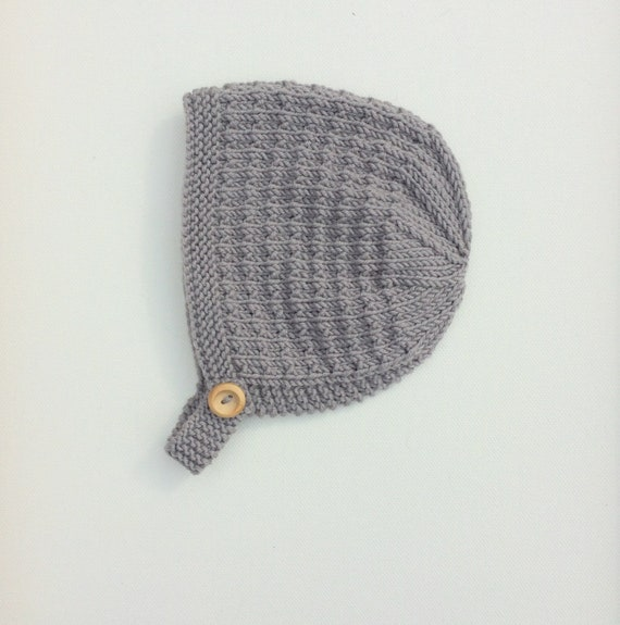 Tibbie Baby Bonnet in Taupe Grey - Made to Order