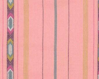 Anna Maria Horner Luminous Tribe in Bubblegum  ,Cotton Fabric Canada/ half yard
