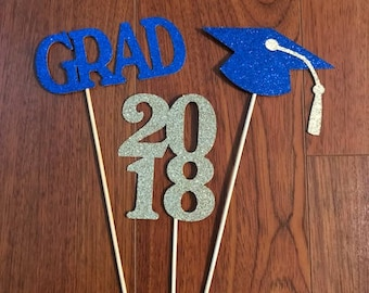 Graduation Centerpiece Sticks 2018, Graduation Party, Graduation Decor, Class of 2018, Graduation Party Decor, Graduation, Graduation 2018