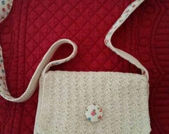 handmade cotton bag crochet shoulder bag