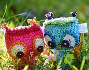 Crochet owl ornament / pendant / hanger pattern