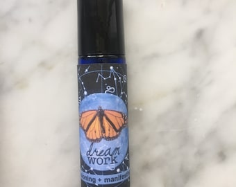 Dreamwork Roll-on Perfume for Visioning + Manifesting - lucid dreams, higher wisdom, new visions, deep insights - in waking life and dreams
