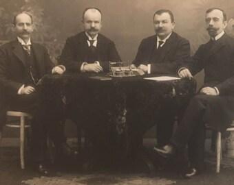 1890s Greek mens , Prinkipo, Constantinople Turkey, Cabinet Photo Andriomenos
