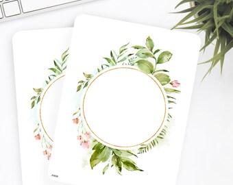 FW58 | Wreath Sticker | Decorative Sticker | Watercolor Sticker | Flower Sticker | Planner Stickers | Bullet Journal Stickers