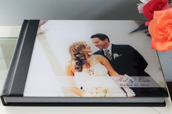 Custom wedding photo album11x14 horizontal acrylic cover like this item solutioingenieria Image collections