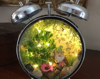 SOLD SOLD ~ Woodland Gnome Diorama ~ Night Light