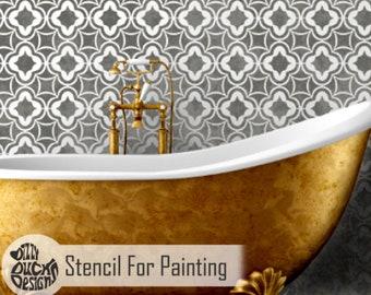 ARABIAN NIGHTS STENCIL - Moroccan Arabic Wall Floor Furniture Craft Stencil for Painting - ARAB01